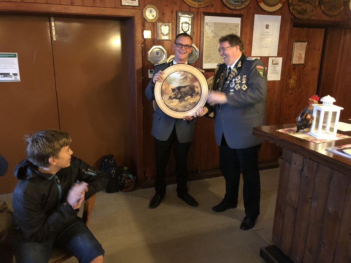 Sieger der Herren-Ehrenscheibe beim Abschießen 2018: Sebastian Letsch