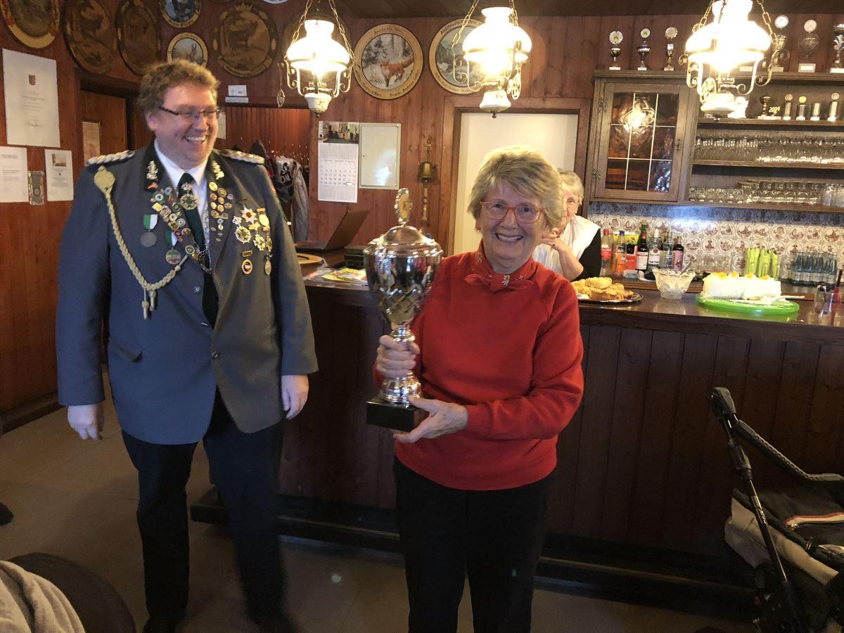 Siegerin des Wolgang Schramm Pokals beim Abschießen 2018: Krista Wolgast